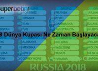 2018 Dünya Kupası Ne Zaman